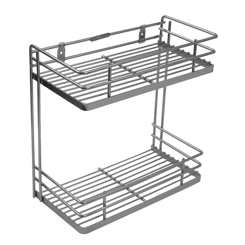 Buy Online Perdiem Double Front Shelf Spice Rack - Kitchen Basket ...