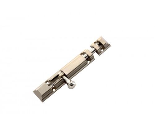 Flora RONALD Brass Tower Bolt - Door Stopper (Chrome Finish 4 Inch)