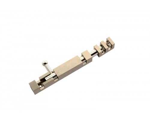 Flora SQUEERAL Brass Tower Bolt - Door Stopper (Chrome Finish 4 Inch)