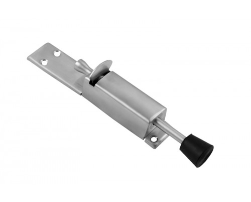 Klaxon Square Steel Door Stopper (Chrome Finish)