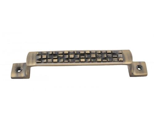 Klaxon Vudu Brass Door Handle (6 Inch)