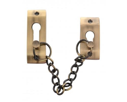 Klaxon Exclusive Door Chain Brass (Antique Finish)