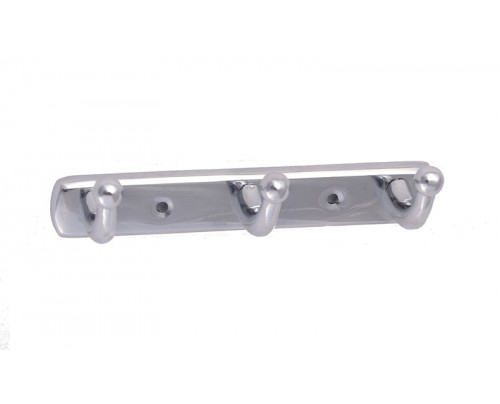 SGR Bathroom Hook Rail - Pahntom - 3 - Points Brass