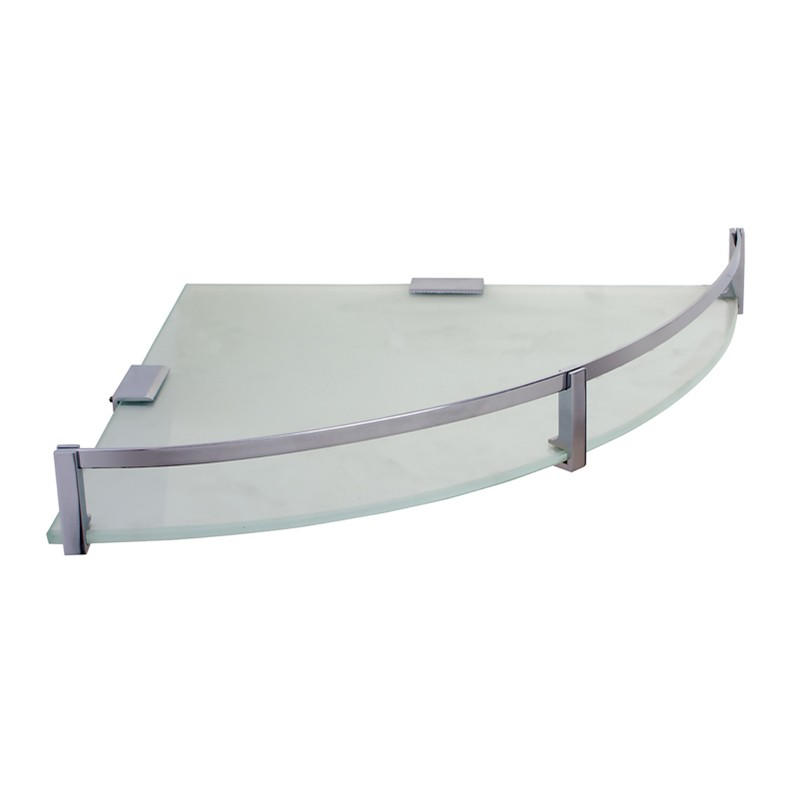 Buy Online Bathroom Corner Glass Shelf Corner Shelves 12x12x1 Regular Kmp